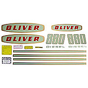 DEC184 - Oliver Early 880 Diesel: Mylar Decal Set