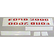 DEC197 - Ford 2000 1968 And Up 3 Cyl: Mylar Decal Set