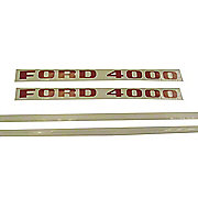 DEC199 - Ford 4000 1968 And Up 3 Cyl: Mylar Decal Set