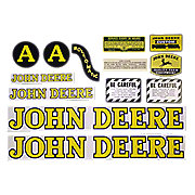 DEC239 - JD A Styled Hood 1947-52: Mylar Decal Set