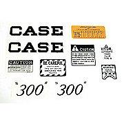 DEC262 - Case 300 Script: Mylar Decal Set