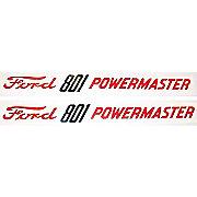 DEC295 - Ford 801 Powermaster: Mylar Decal Hood Pair