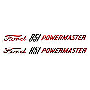 DEC297 - Ford 851 Powermaster: Mylar Decal Hood Pair