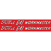 DEC299 - Ford 641 Workmaster:  Mylar Hood Decals, Pair