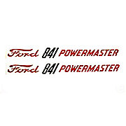 DEC300 - Ford 841 Powermaster: Mylar Decals Hood Pair