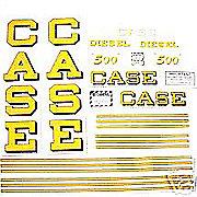 DEC306 - Case 500 Diesel: Mylar Decal Set