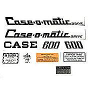 DEC309 - Case 600 Case-O-Matic: Mylar Decal Set