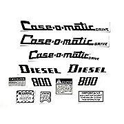 DEC311 - Case 800 Case-O-Matic Diesel: Mylar Decal Set