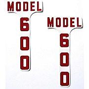 DEC332 - Ford 600: Mylar Hood Decals, Pair
