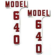 DEC333 - Ford 640: Mylar Hood Decals, Pair