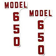 DEC334 - Ford 650: Mylar Hood Decals, Pair