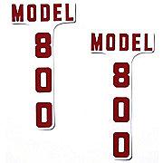 DEC335 - Ford 800: Mylar Hood Decals, Pair