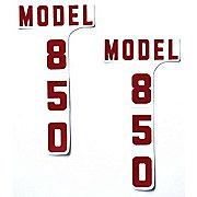 DEC337 - Ford 850: Mylar Hood Decals, Pair