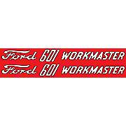 DEC338 - Ford 601 Workmaster: Mylar Hood Decals, Pair