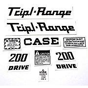 DEC339 - Case 200 Triple Range:  Mylar Decal Set