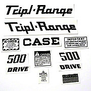 DEC340 - Case 500 Triple Range: Mylar Decal Set