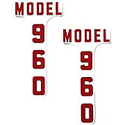 DEC342 - Ford 960: Mylar Hood Decals, Pair