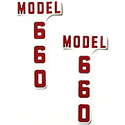 DEC344 - Ford 660 1955-57: Mylar Hood Decals, Pair