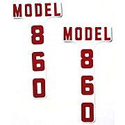 DEC346 - Ford 860 1955-57: Mylar Hood Decals, Pair