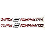 DEC348 - Ford 901 Powermaster: Hood Decals, Pair (Mylar)