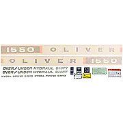 DEC350 - Oliver 1550: Vinyl Cut Decal Set