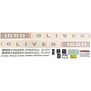 DEC351 - Oliver 1650: Vinyl Cut Decal Set