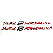 DEC360 - Ford 861 Powermaster:  Mylar Hood Decals, Pair