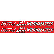 DEC362 - Ford 541 Offset Workmaster: Set Of 2 Mylar Decals