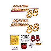 DEC370 - Oliver 88 Standard: Mylar Decal Set