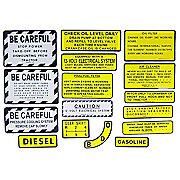 DEC424 - IH 400, 450 Diesel: Mylar Misc Decal Set --  15 Pieces