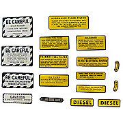 DEC426 - IH 460 Diesel: Mylar Misc Decal Set --  17 Pieces