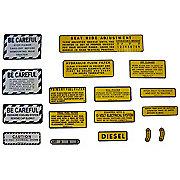 DEC428 - IH 560, 660 Diesel: Mylar Misc Decal Set --  15 Pieces