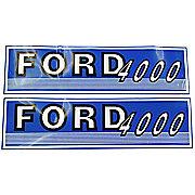 DEC430 - Ford 4000 Before 1965:  Mylar Decal Hood Set