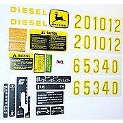 DEC449 - JD 2510, 2520, 3010 +, Complete Mylar Decal Set