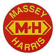 DEC458 - Massey Harris Round Decal