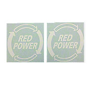 DEC468 - Red Power Decal (Set of 2)