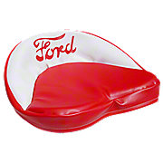 FDS230 - Red And White Tractor Seat Cushion