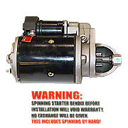 FDS390 - New 12 Volt Starter With Drive (Bendix)
