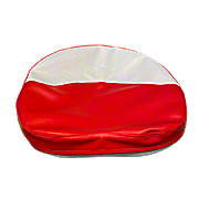 MIS006DR - Red And White Tractor Seat Cushion