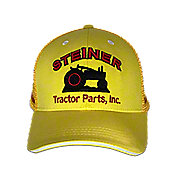 MIS124 - Gold/Yellow Mesh Cap With Red Embroidery, Steiner Tractor Parts, Inc. Baseball Cap