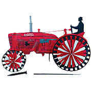 MIS132 - Farmall Tractor Spinner (Yard Ornament)