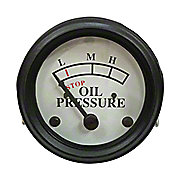 NJD419 - Oil Pressure Gauge (0-25 PSI) - Dash mounted, White Face