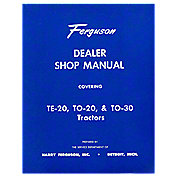 Dealer Shop Manual: MF TE20, TO20, TO30 on