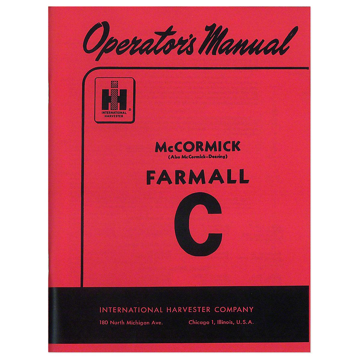 REP097  OPERATORS MANUAL  FARMALL C