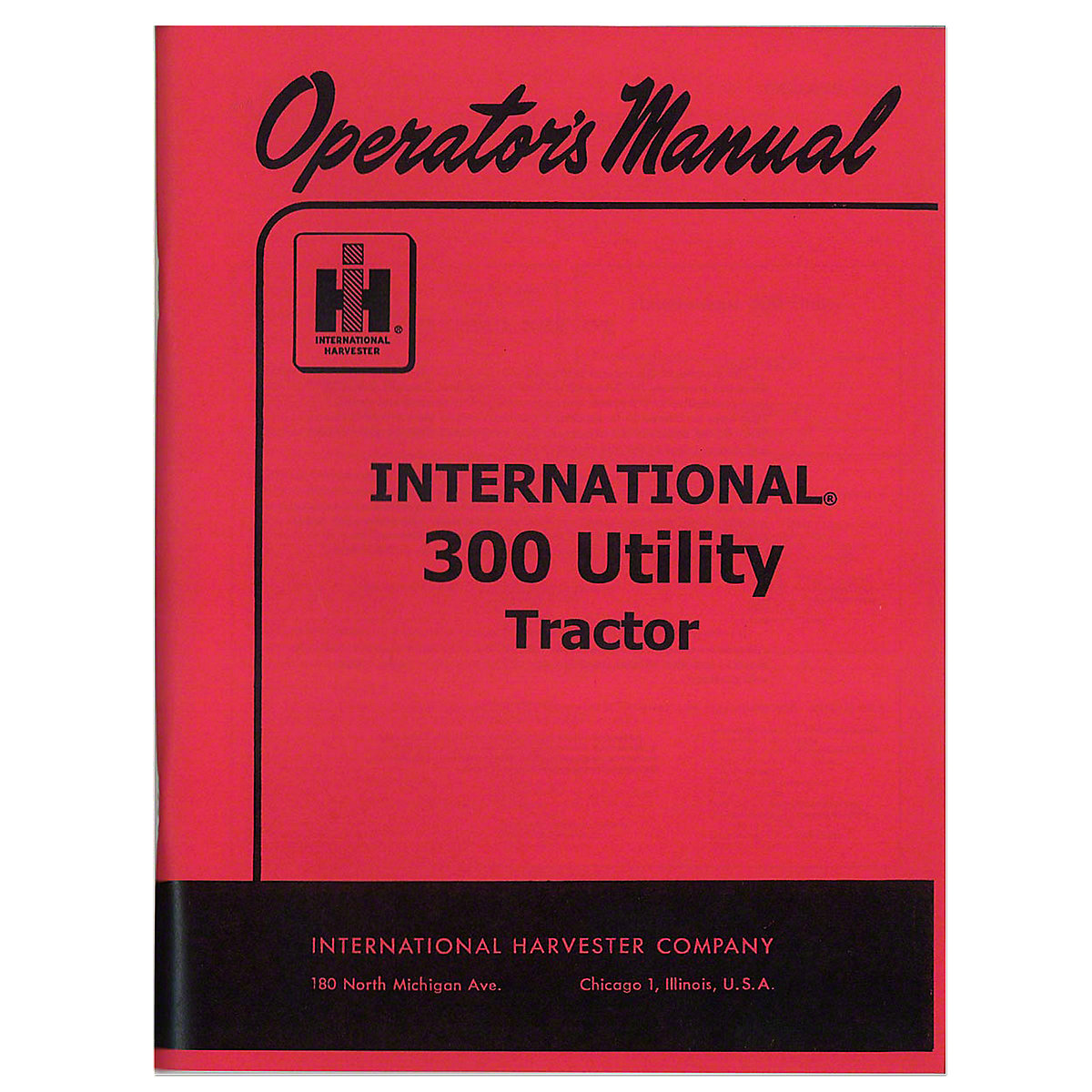 REP116 Operators Manual: IH 300 Utility
