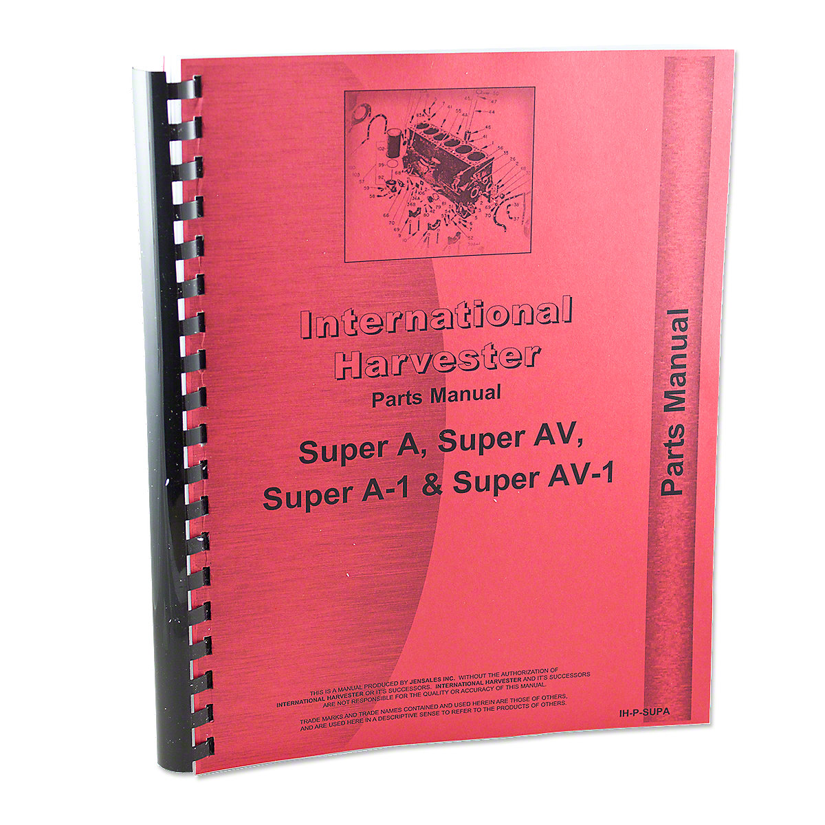 REP1745 International Harvester Farmall Super A Parts Manual