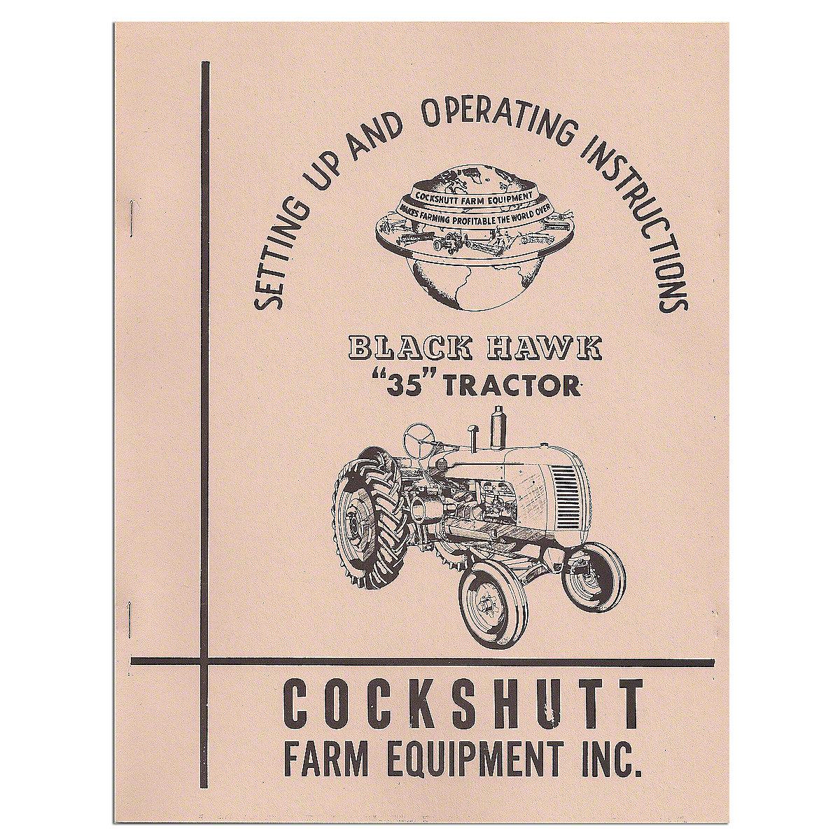 operators manual reprint  35  35 blackhawk rep2989