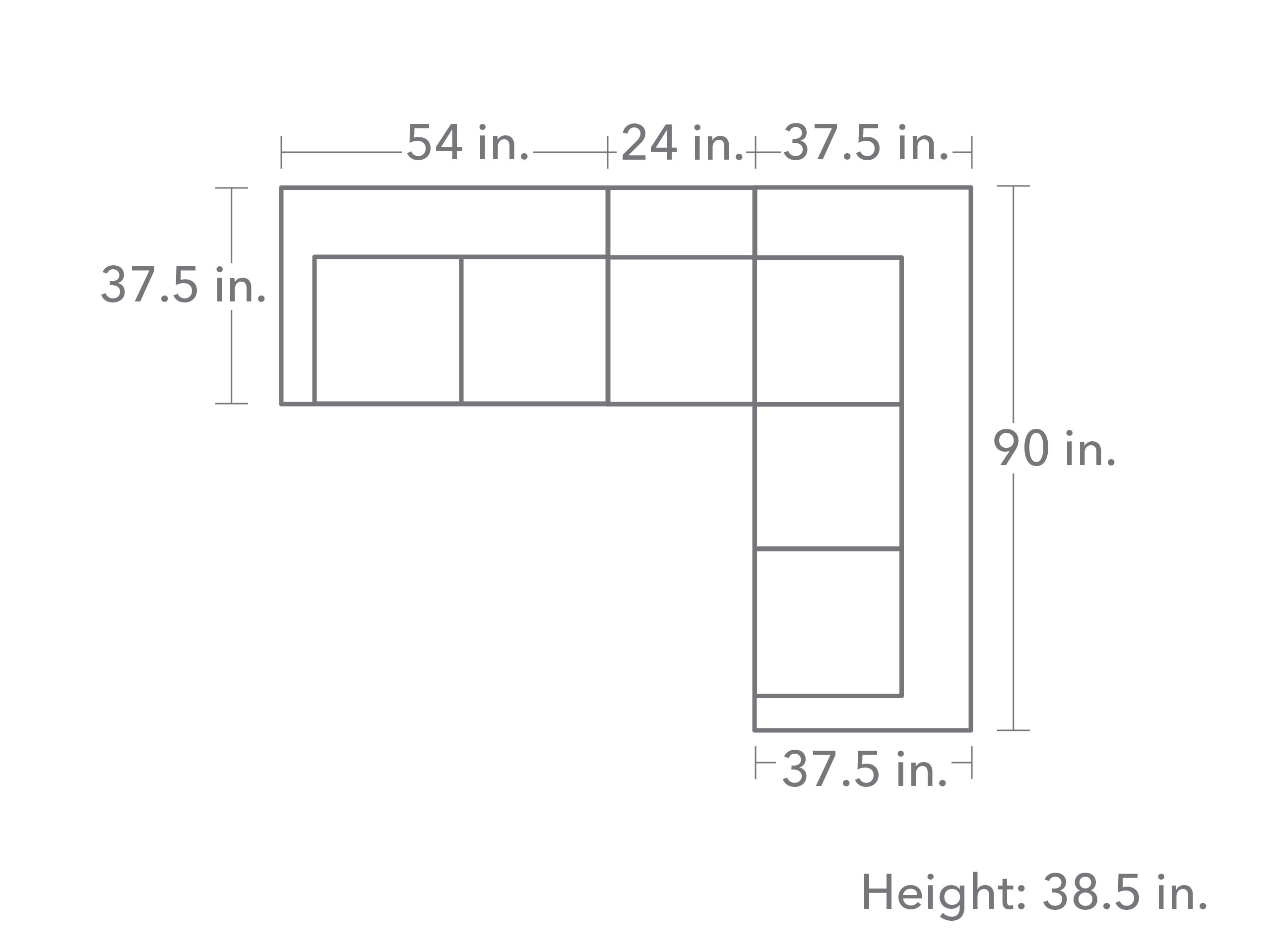 Sharon 3 Piece Sectional - Quartz