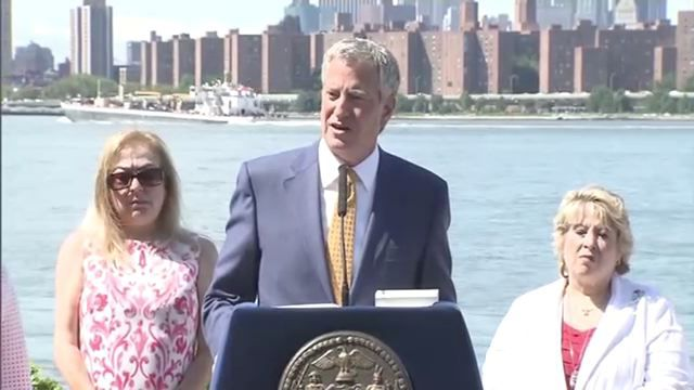 Mayor touts ferry service success after avoiding protesters opposed to teacher hiring policy