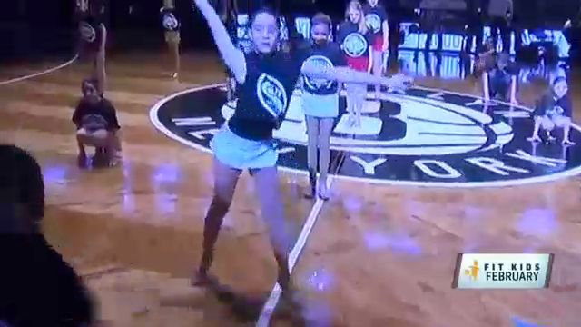 Fit Kids: Students Score Dance Performance Before Nets Game